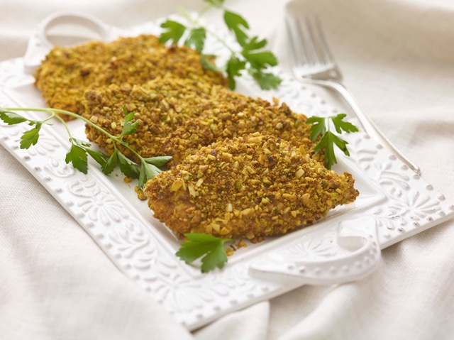 BAKED SCHNITZEL WITH NUT CRUST