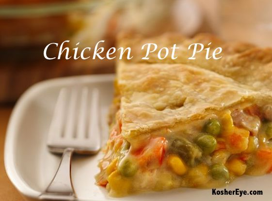 Chicken pot pie in puff pastry