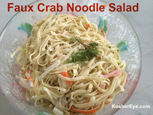 Faux crab noodle texted salad 300w