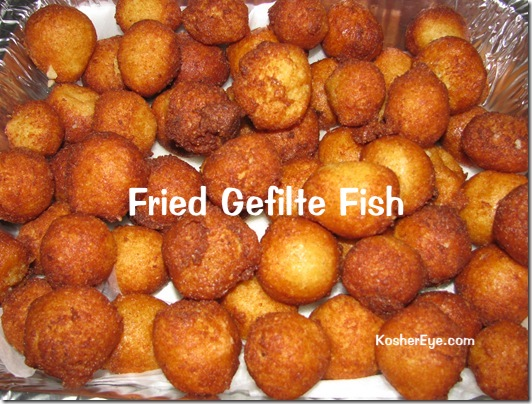 Fried gefilte fish balls