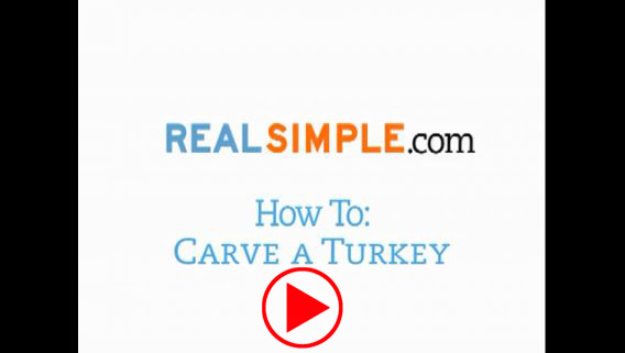How carve turkey real simple video play
