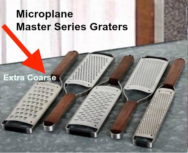 Master texted sized w arrow series grater