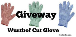 One Wusthof Cut Glove Giveaway e