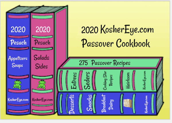 Passover book stack 2020