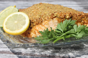 Pistachio Crusted Salmon 300w