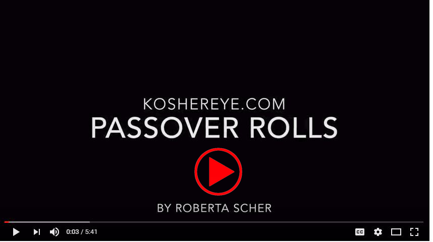 RSS Pesach Rolls Play Video Screen