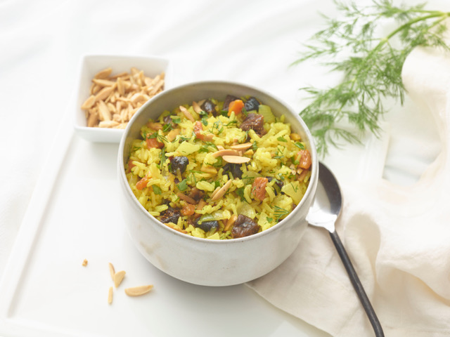 SRI LANKAN RICE WITH DRIED FRUITS AND NUTS