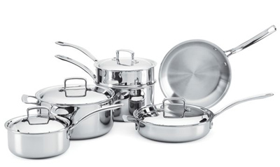 dr weil 10 pc stainless cookware set 851102 400w