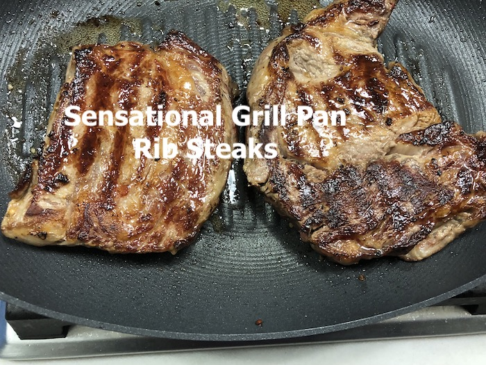 grill pan texted steak done