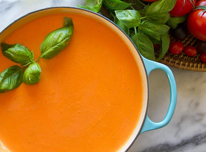 homemade creamy tomato soup recipe