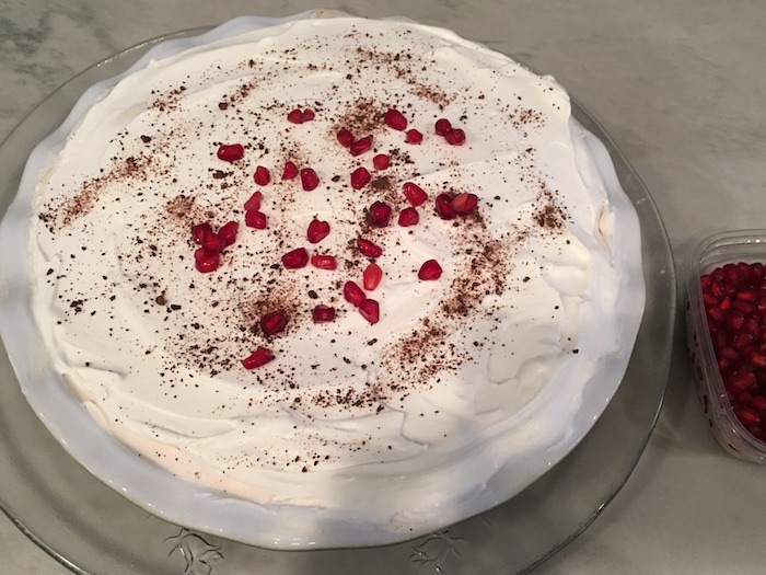 pomegranate cream sized pie