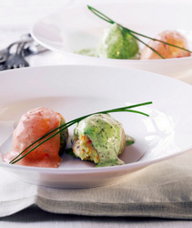 Fish_Quenelles_With_Two_Sauces