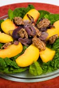spinachandpeachsalad